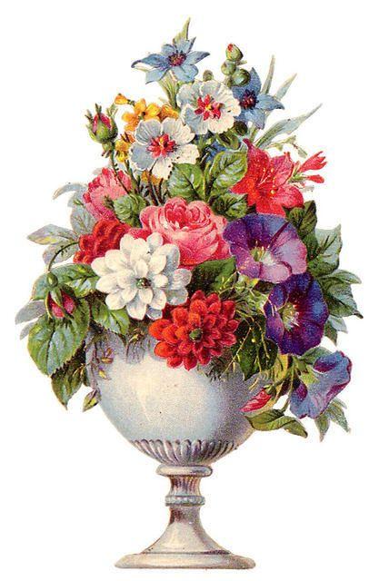 Beautiful Bouquet Blumen Blumen Malen Vintage Blumen