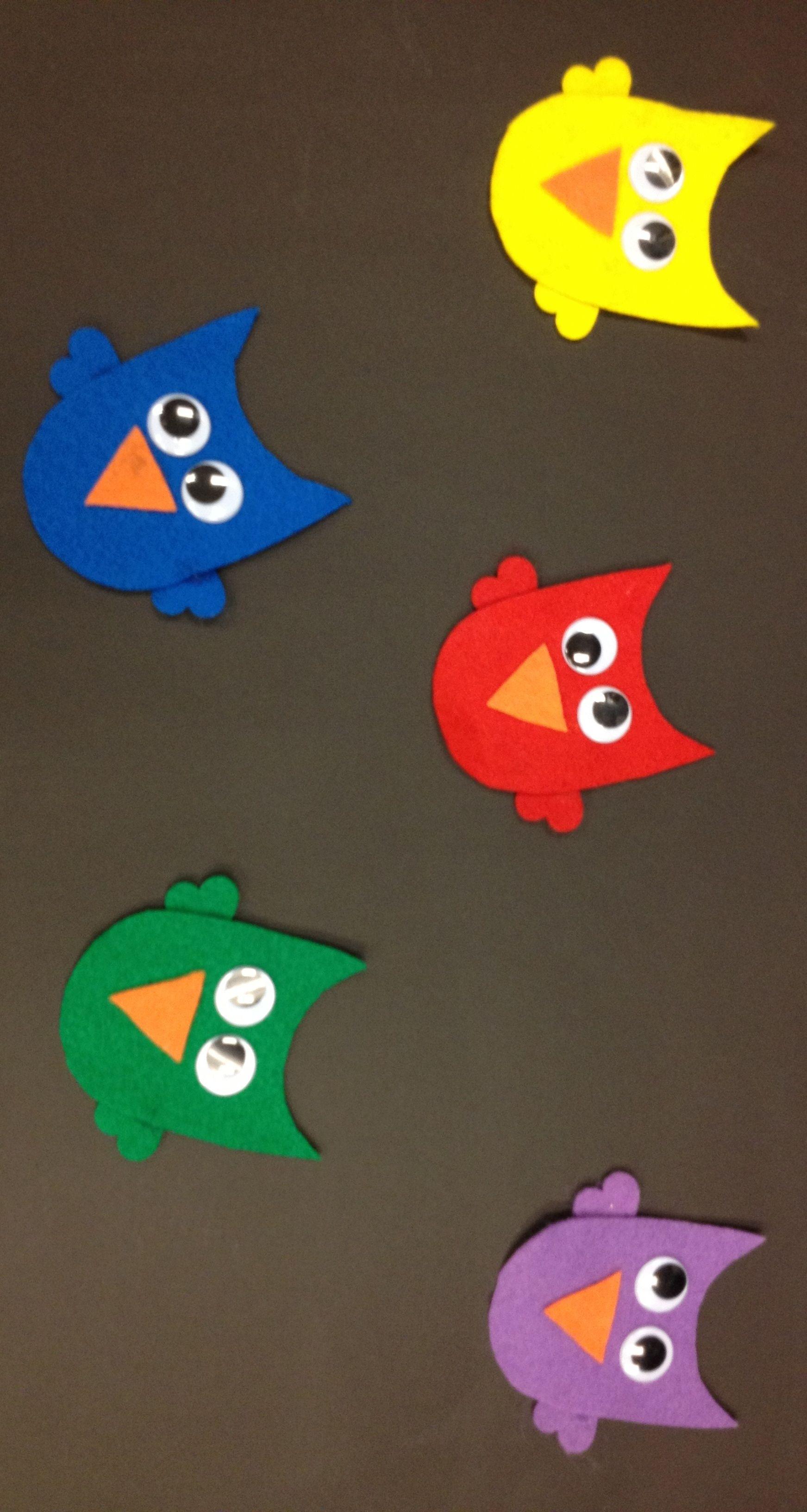 Five Little Owls Flannel Board