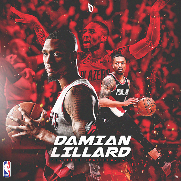 Damian Lillard Fanart NBA ARTWORK on Behance Nba