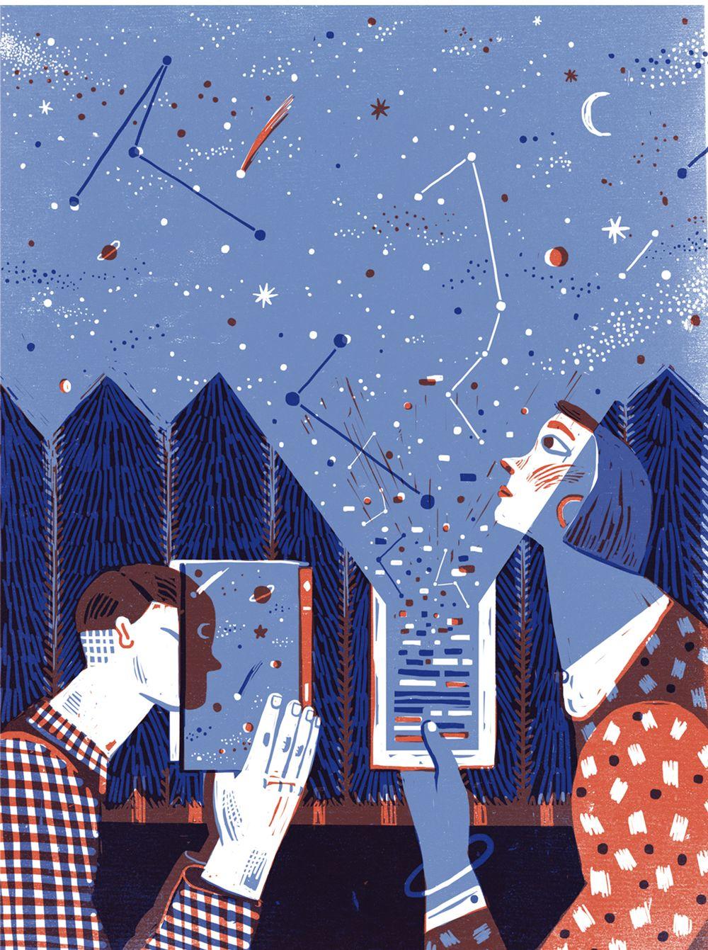 editorial illustration for Nautilus magazine on the