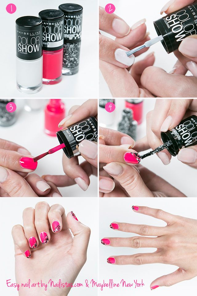 Diseño para uñas sencillo // Nail Art fácil paso a paso | Manicuras ...