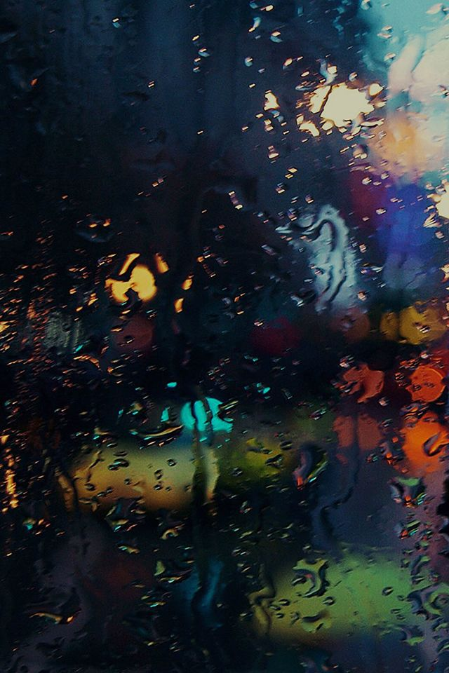 Raining Back Car Window Gloomy Dark Street Scene #iPhone #4s #wallpaper