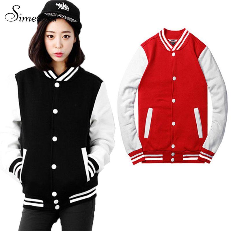Baseball jaket casacos femininos tinggi jaket Harajuku gaya wanita ...