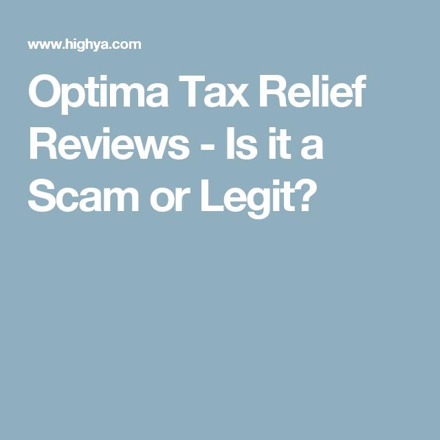 Optima Tax Relief Reviews Is It A Scam Or Legit Finances