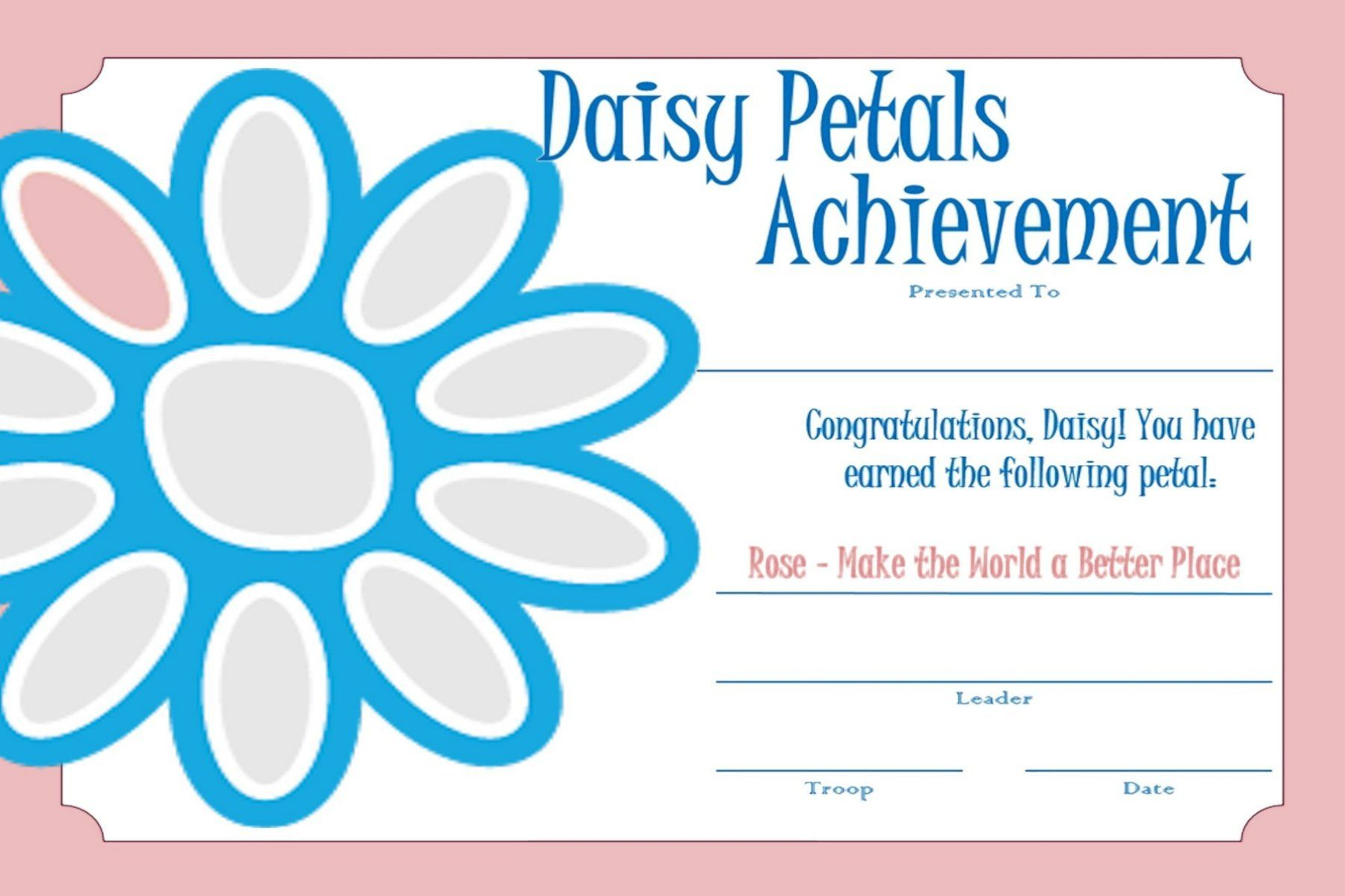 Girl Scout Daisy Rosie Petal