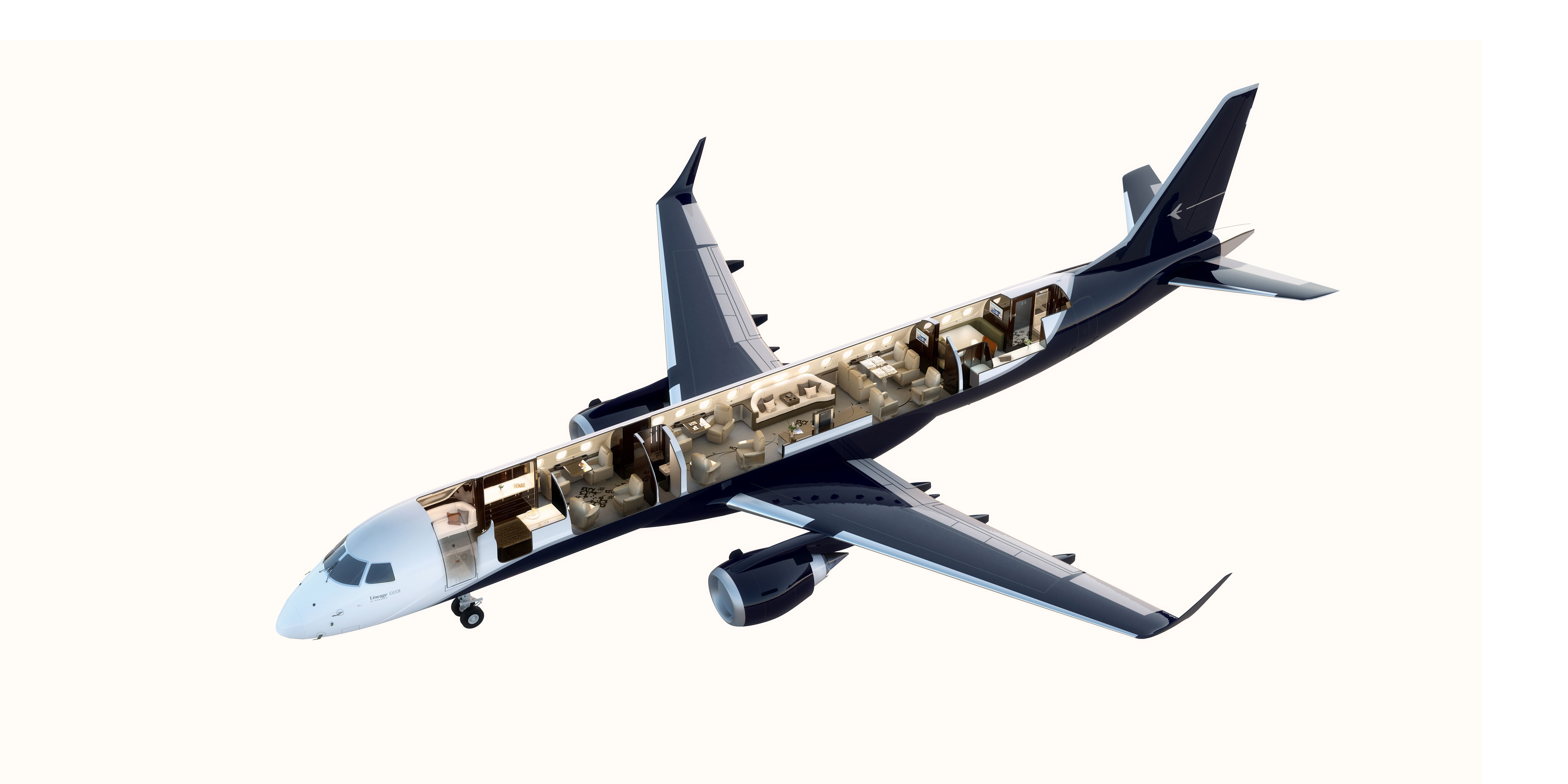 Private jet interior furnished like a vintage train aviation - Ever Wonder What Goes Inside A 53 Million Private Jet