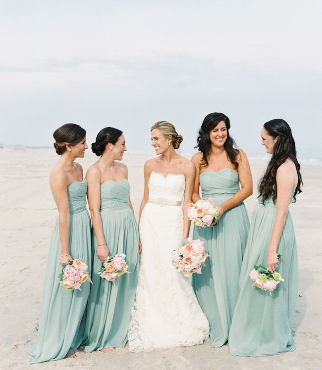 10 Beautiful Bridesmaid Looks For Beach Weddings Beach Bridesmaid Dresses Beach Wedding Bridesmaid Dresses Seafoam Bridesmaid Dresses