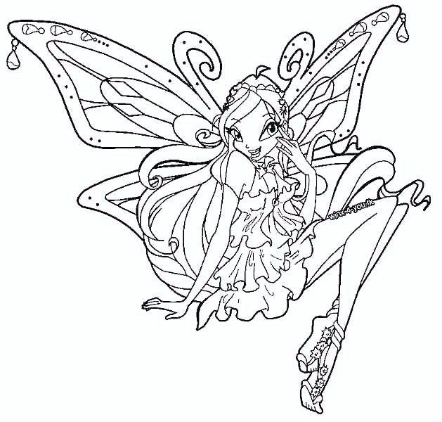 Layla Winx Club Coloring Pages Winx Club Pokemon Coloring