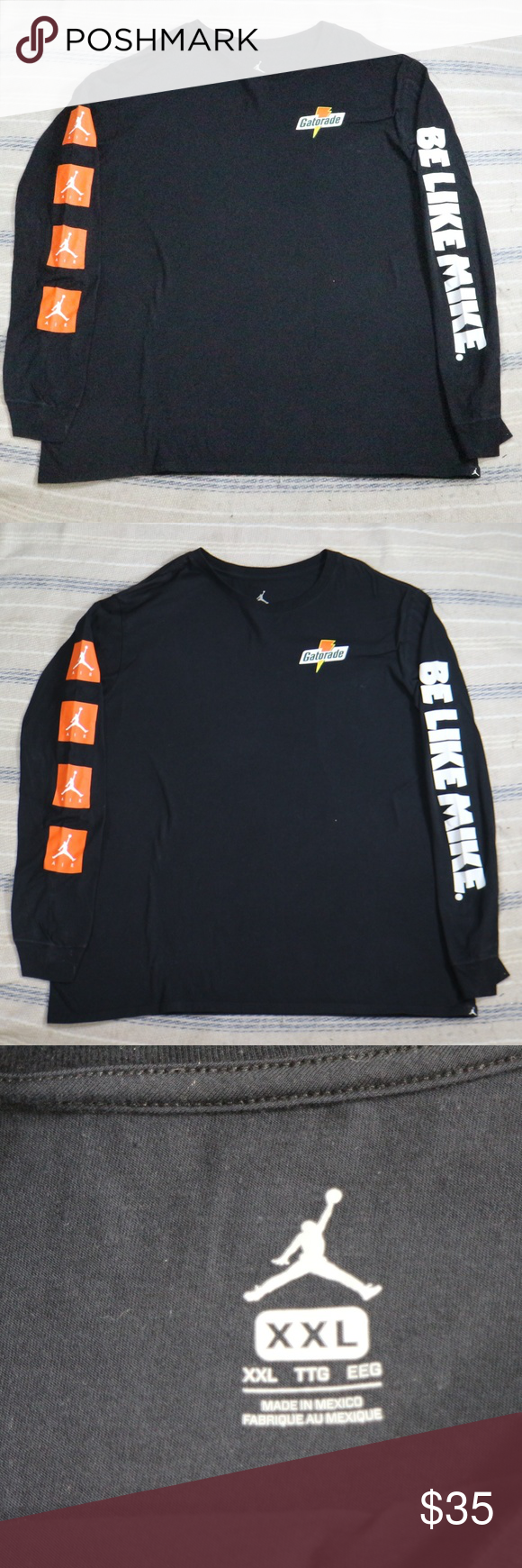 7fa3d112398c Nwot JORDAN Be Like Mike Gatorade Long Sleeve Tee New without tag ...