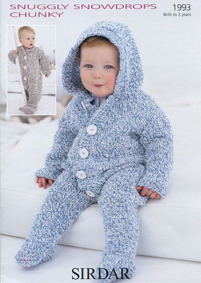 Free Pattern Knit Baby Snowsuit Sewing Baby Knitting Patterns