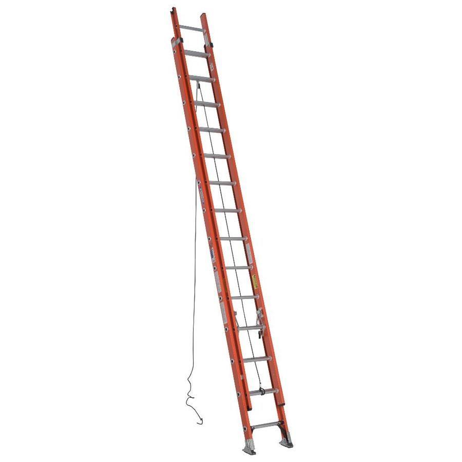 Werner D6200 Fiberglass 28 Ft Type 1a 300 Lbs Extension Ladder Ladder Plastic Step Stool Rolling Ladder
