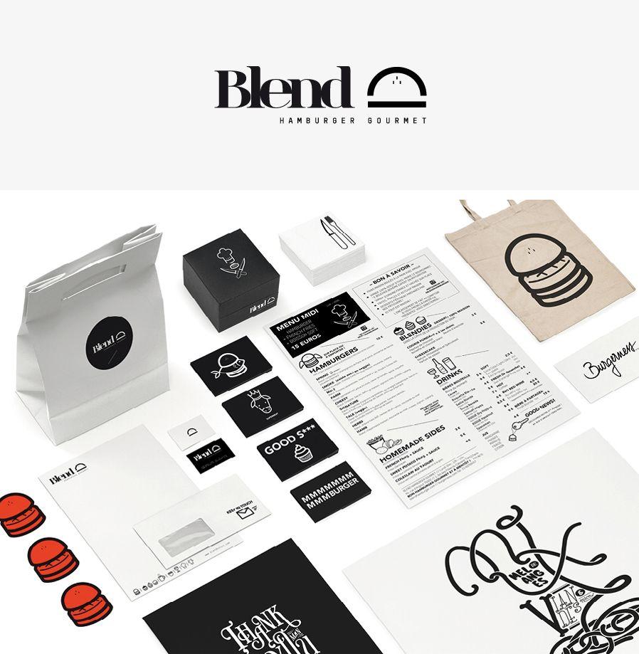 Blend Hamburger Identity - Minsk-Studio.com