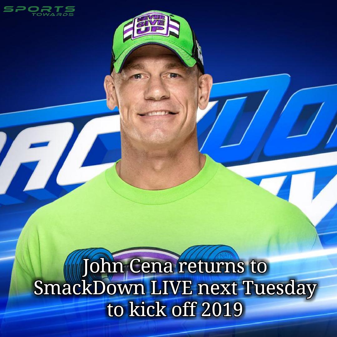 John Cena Set To Return To Wwe Next Week On Smackdown Live Basketball News Latest Football News Latest Cricket News