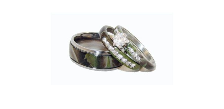 Camo Wedding Ring Set Camo Wedding Rings Camo Engagement Rings