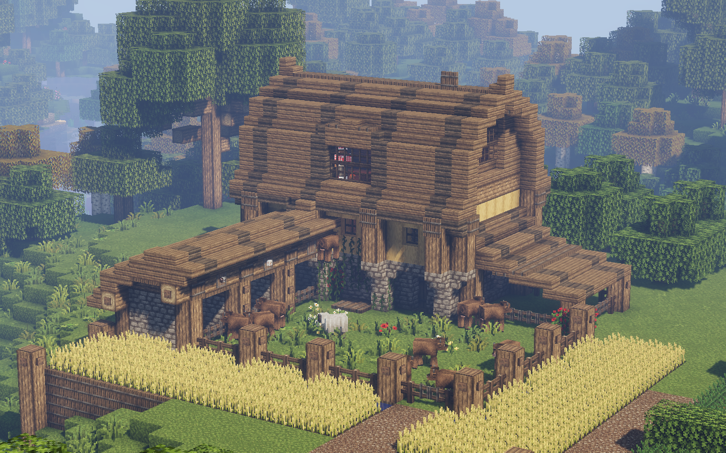 I built this farmhouse on a multiplayer server and the owners reset the world I m still salty about it