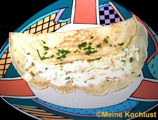 Meine Kochlust: Crêpes mit Krebsfleisch à la Christa - pancakes wi...