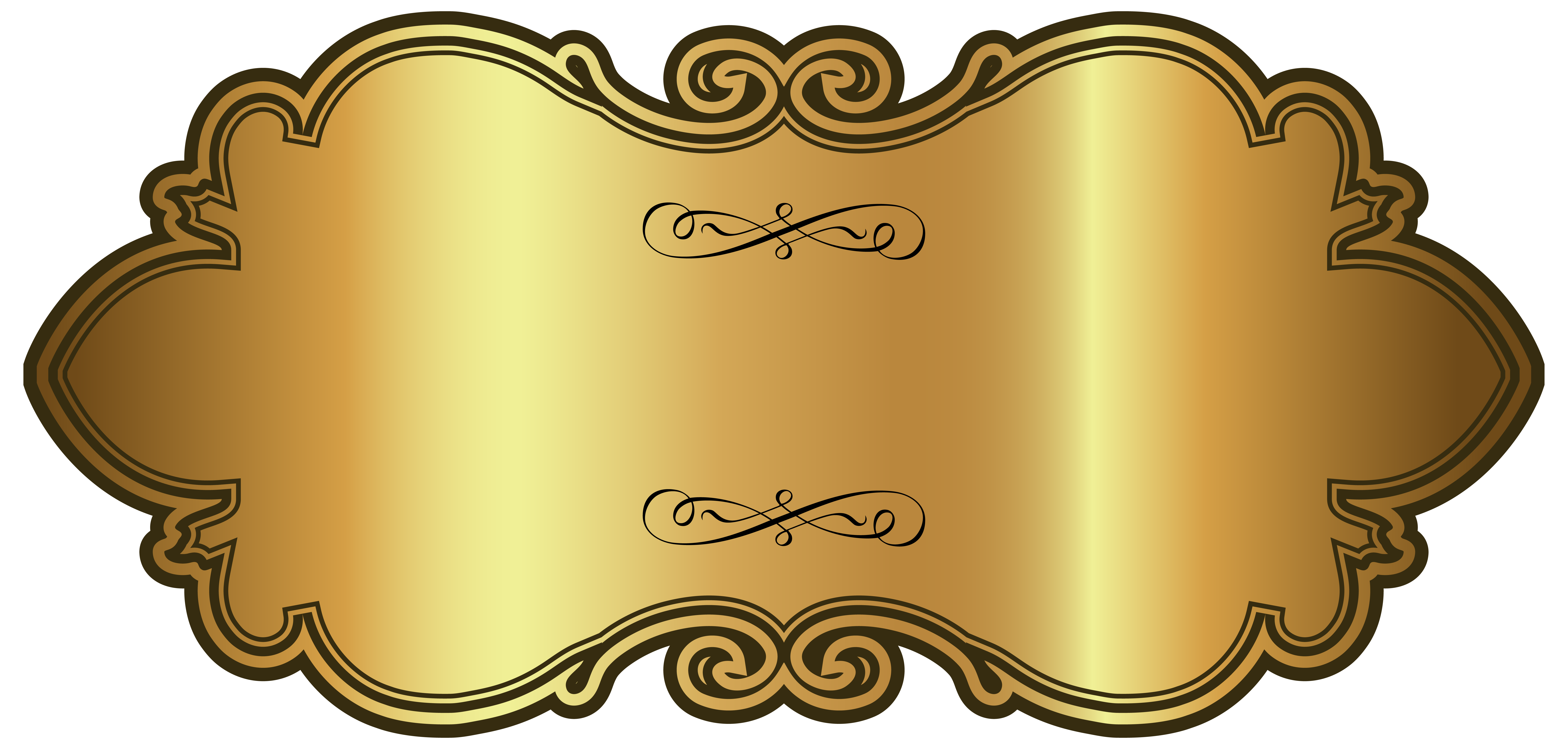 Golden Luxury Label Template PNG Clipart Image | Gallery ...