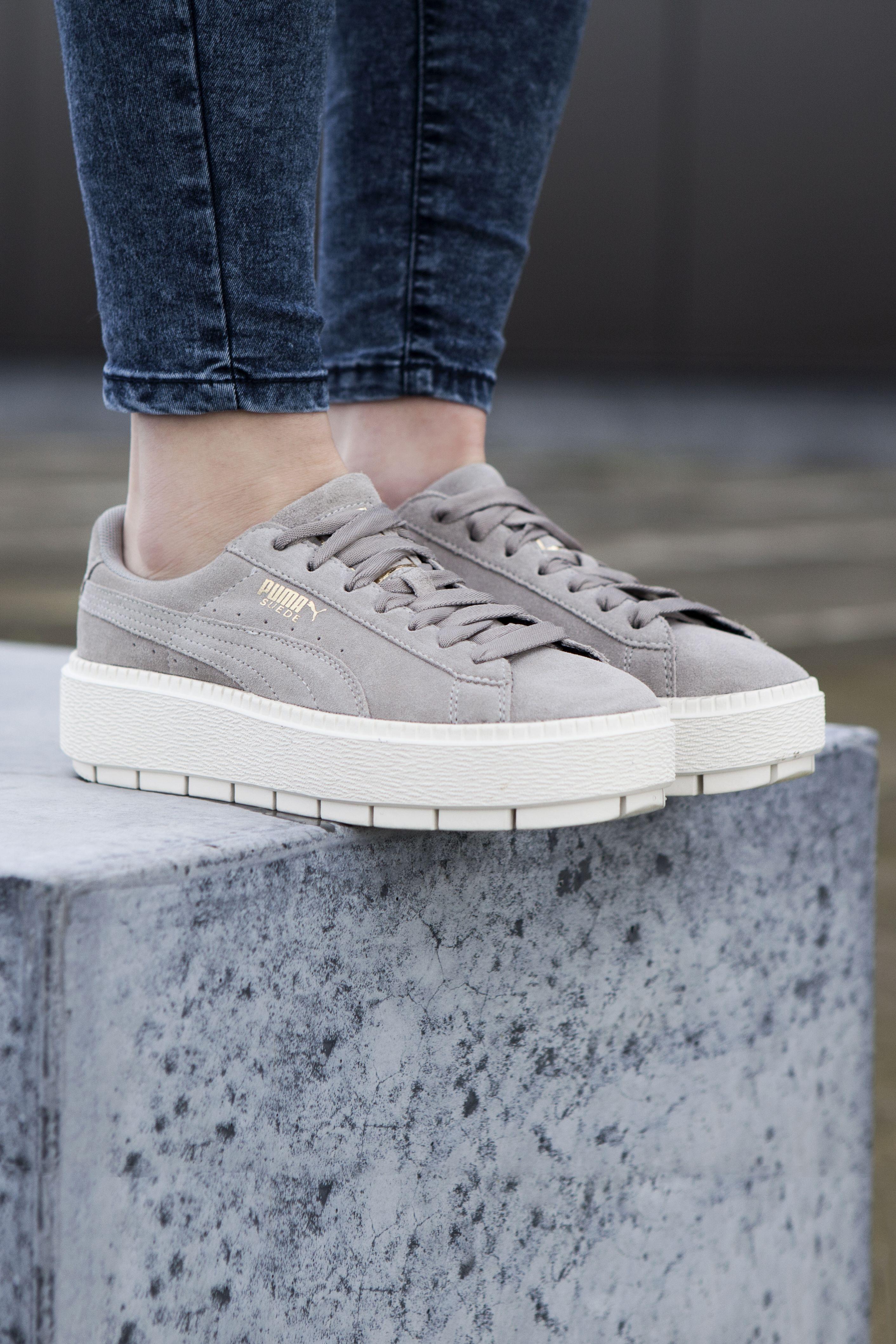 PUMA Platform Rugged Trace | Grijs | Dames | Grijs, Sneaker