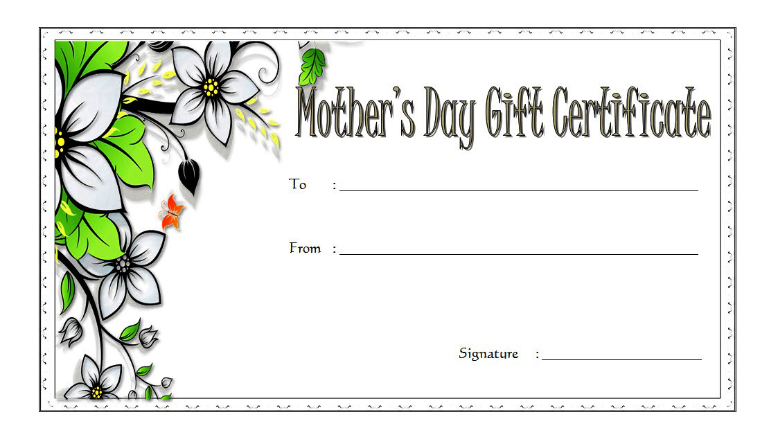 Mothers Day Gift Certificate Template Free Printable 1 Mother S Day Gift Card Gift Certificate Template Gift Card Template
