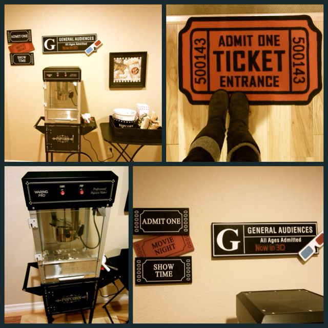 Great Idea For Movie Nights In The Basement! This Is From