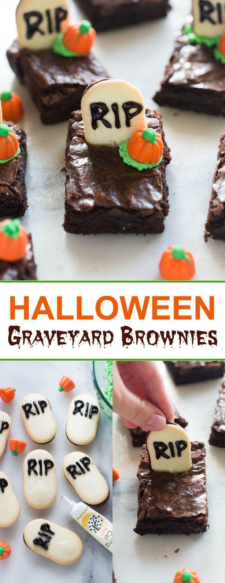 Photo of Friedhof Halloween Brownies