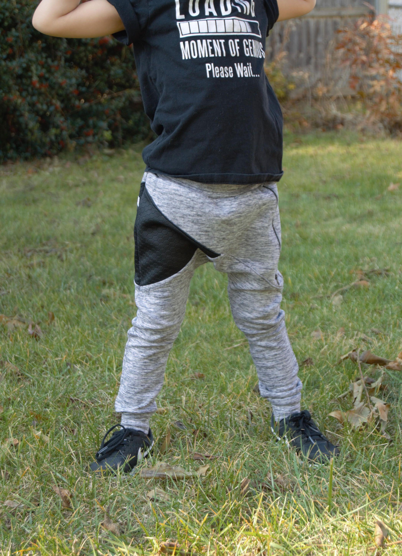 Alex Two Tone Boy Jogger Pants Boy Pants Gender Neutral Skinny