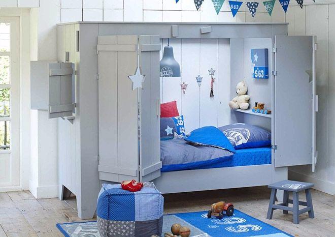 Lit Alcove Star Nordic Factory Lits Cabine Lits Simples Enfant Chambre Enfant
