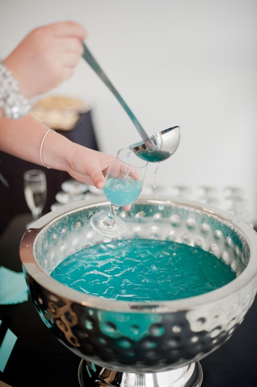 Tiffany Blue Gel Nails With Glitter: Tiffany's Inspired Bridal Shower From Vicki Bartel In 2019