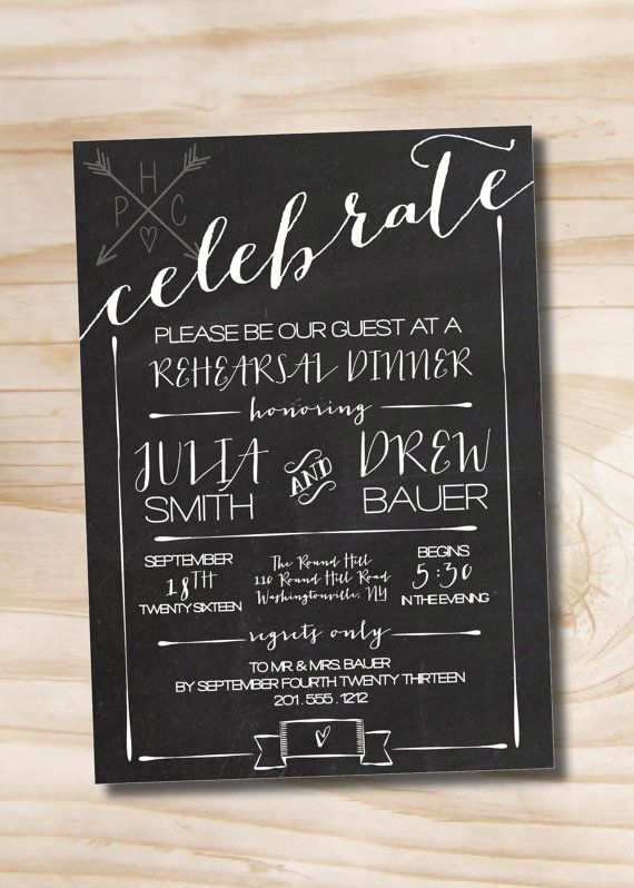 CHALKBOARD CELEBRATE Poster Engagement Party Invitation / Couples