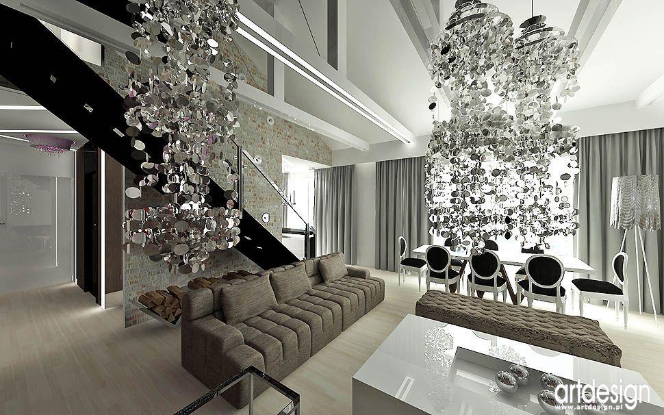 Wnetrza Nowoczesne Styl Loft Glamour Design Decor Glam Decor Home Decor