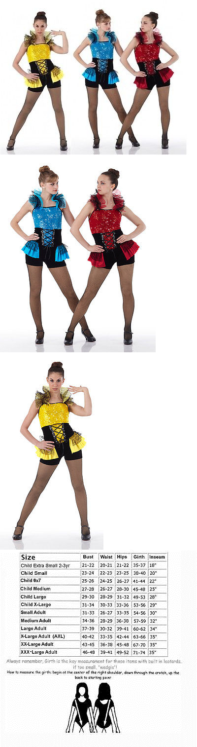 Jazz Tap Dance Costume Can Can Jester TROUBLEMAKER Child /& Adult Sizes