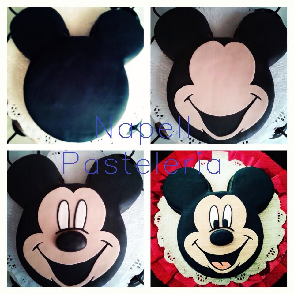 mickey mouse face template for cake - mickey mouse cake tutorial pasteria tutorial pinterest