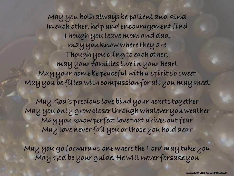 Wedding Blessing Digital Print Father Of Bride Poem Download