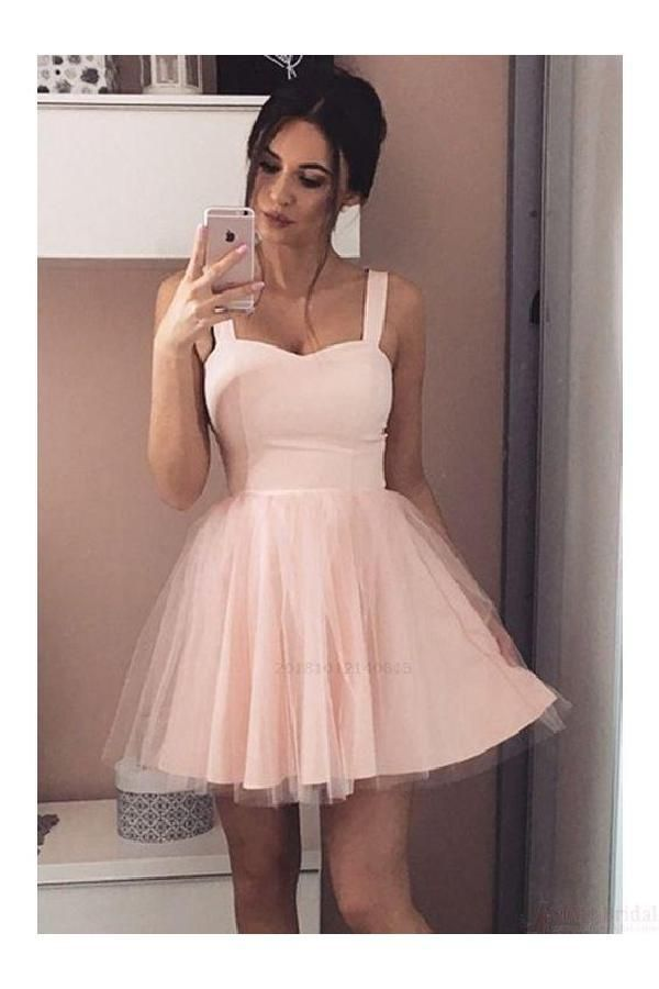 Light Pink Homecoming Dresses Homecoming Dresses A Line Homecoming Dress Tulle Homecoming Dress Pink Homecoming Dress Light Pink Homecoming Dresses