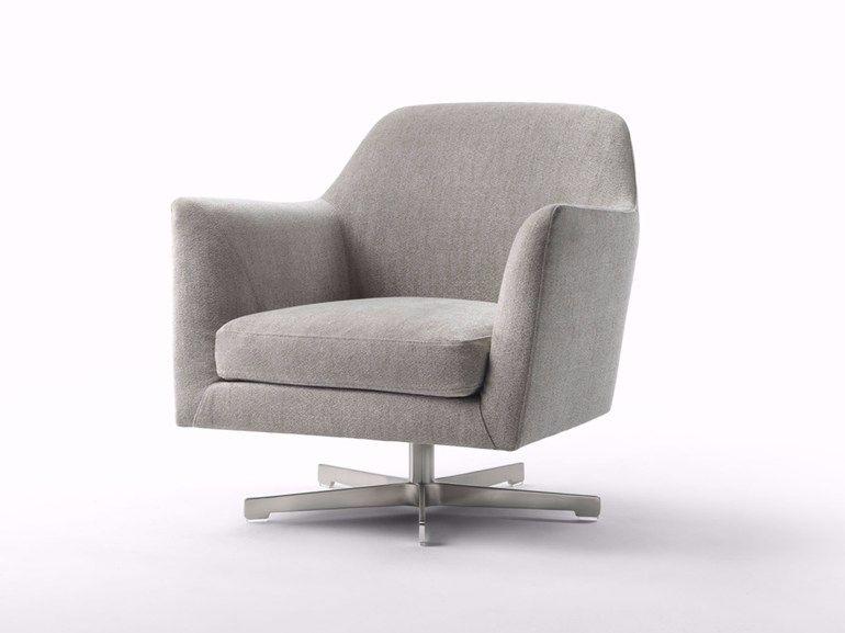 luce swivel armchair by flexform design antonio citterio