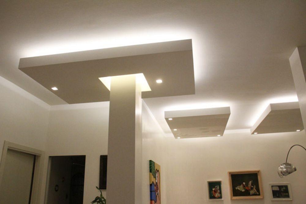 Possibilit pannelli cartongesso faretti orientabili tutto per casa pilastri luci design - Luci a led per interni casa ...