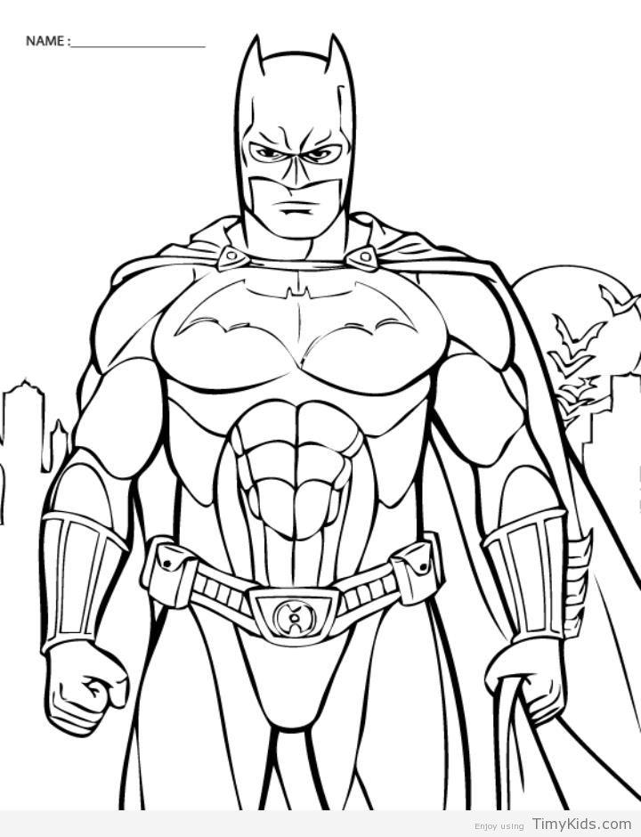 http://timykids.com/batman-color.html | Colorings | Pinterest ...
