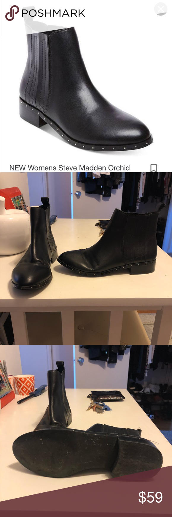 c5f96ff58be Steve Madden Orchid Bootie with Studs Barely worn Steve Madden ...