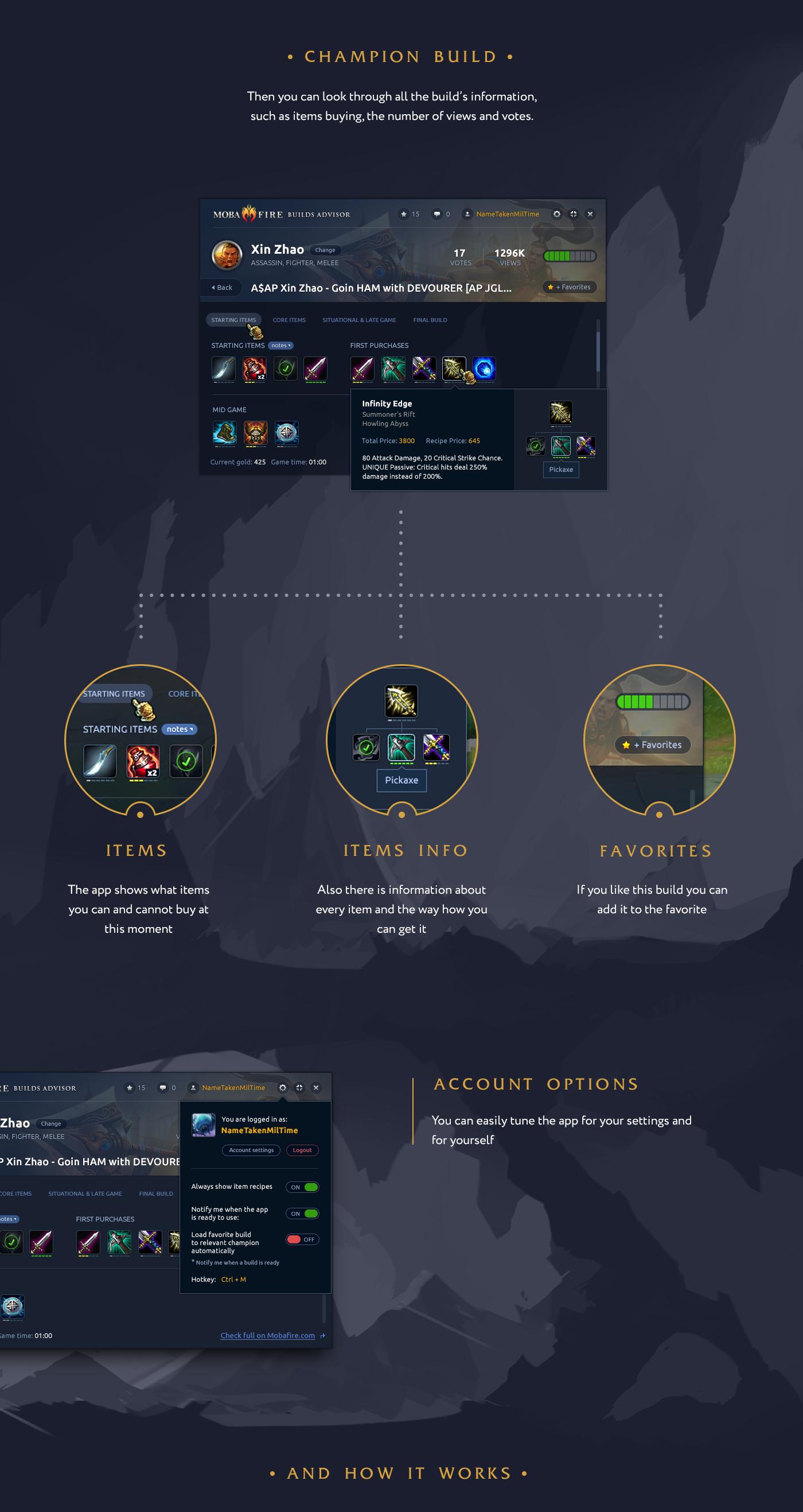 MobaFire app for League of Legends on Behance