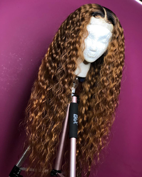 Ulovewigs Human Virgin Hair Wave Pre Plucked Lace Front Wig And Full Lace Wig For Black Woman Free Shipping (ULW0060) #virginhair