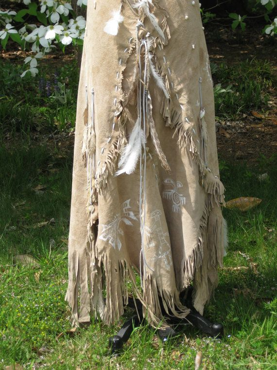 Leather Wedding Dress Native American Inspired By Hippiebride 149500