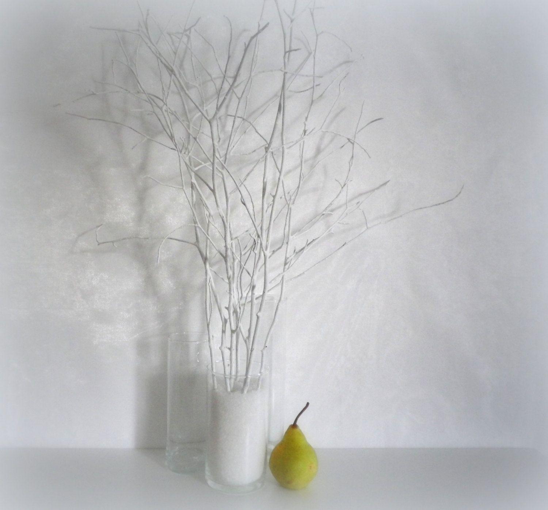 White tree branches, scandinavian home decor, woodland decor ...