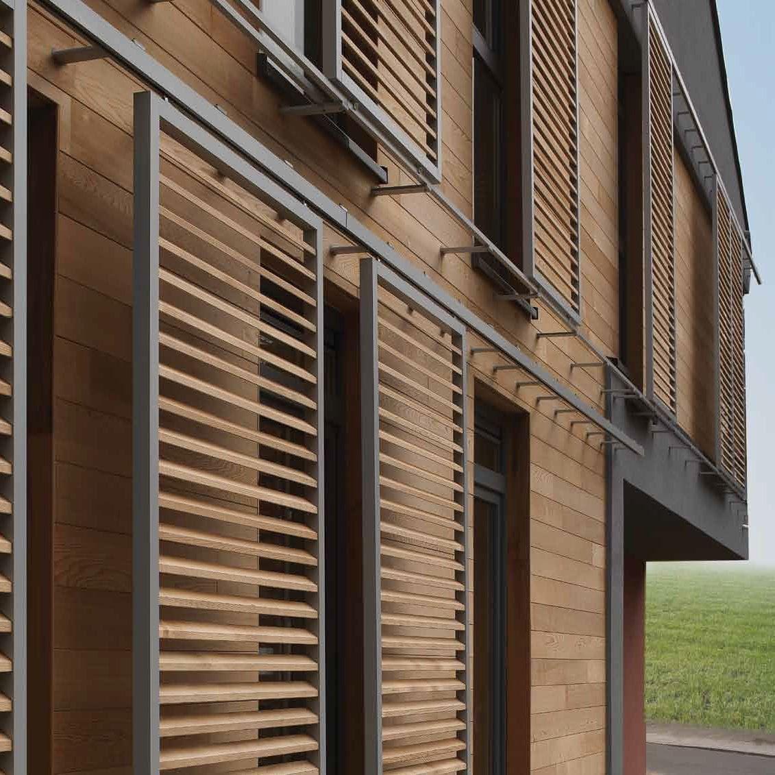 Celos a con lamas deslizante de aluminio de madera for Puertas prefabricadas