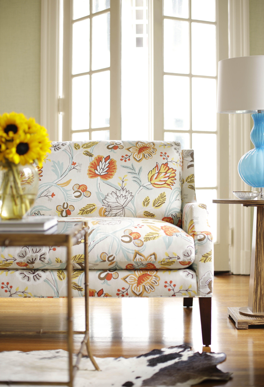 Somerset Sofa In Cayman Cream U0026 Aqua #Thibaut