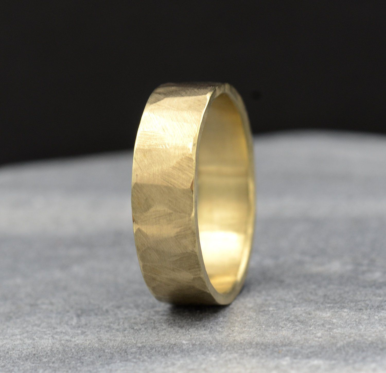 14k Yellow Gold Men S Wedding Band 6mm Forged By Hand Etsy Mens Yellow Gold Wedding Bands Mens Gold Wedding Band Mens Wedding Bands