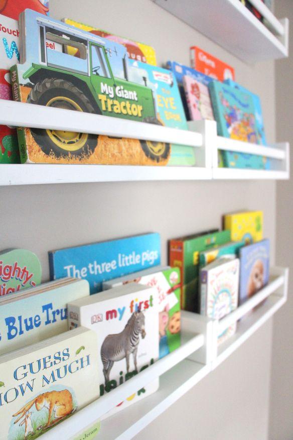 Playroom Reading Nook Part 2 Ikea Spice Rack Bookshelves Ikea