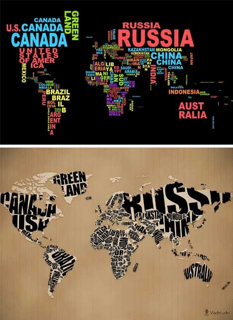 Geo typographies world map wall stickers wall papers made of geo typographies world map wall stickers wall papers made of words gumiabroncs Images