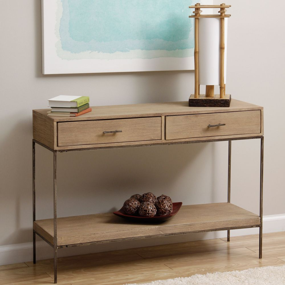 Single shelf 2 drawer console table india overstock single shelf 2 drawer console table india overstock shopping geotapseo Images