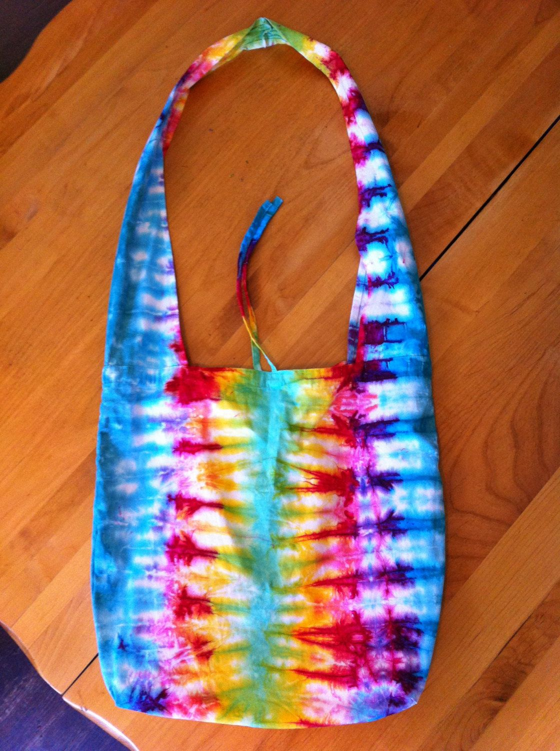 Tie Dye Rainbow Hobo Bag Love this bag that my friend made. Awesomeness.