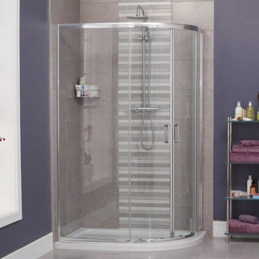 Aqualine 4mm 900 X 760 Offset Sliding Door Quadrant Enclosure Quadrant Shower Enclosures Shower Cubicles Shower Enclosure